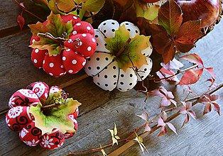 Dekorácie - Jesenná dekorácia tekvice - tekvičky SADA 3 ks - 11133748_