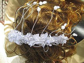 Ozdoby do vlasov - biela romantika - 11134859_