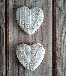 """Darčeky pre svadobčanov - Perníkové srdce """"VEĽKÉ s čipkou"""" - 11135783_"""
