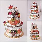 Detské doplnky - Plienková torta JESEŇ - 11137019_
