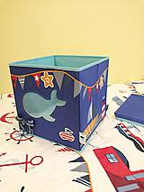 Detské doplnky - Úložný box na hračky - kolekcia Námorník - 11134047_