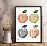 Detské doplnky - Art Print - jabĺčka - 11137181_