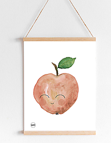 Detské doplnky - Art Print - usmiate jabĺčko - 11137163_