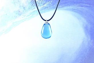 Náhrdelníky - Slza štastia modrá - FARBU SI VYBERTE! Živicový náhrdelník / prívesok (Červená) - 11135789_
