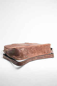 Na notebook - Kožená taška na notebook - 11135510_