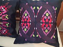 Úžitkový textil - Vyšívaný prehoz a vankúše - 11136143_
