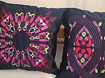 Úžitkový textil - Vyšívaný prehoz a vankúše - 11136144_