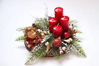 Dekorácie - Adventný svietnik - 11135962_