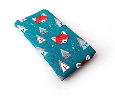 Na mobil - Obal na mobil Panda červená - 11135091_