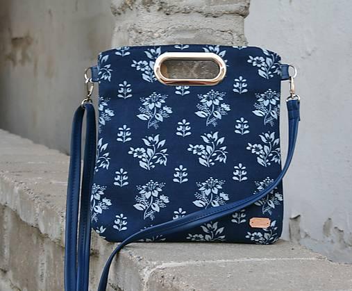 kabelka Elen modrotlačová modrá 2