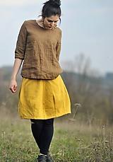 Sukne - Žlutá teplá - 11134907_