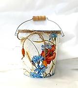 Nádoby - vedierko lúčne kvety - 11135497_