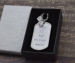 Náhrdelníky - Moja rodina - náhrdelník/kľúčenka - 11135249_