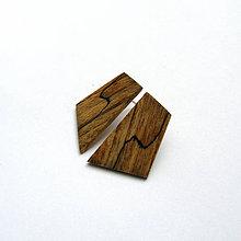 Náušnice - Drevené náušnice napichovacie - špaltované bukové - 11136498_