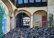 Obrazy - Banskoštiavnický dvor 70x50 cm - 11136629_