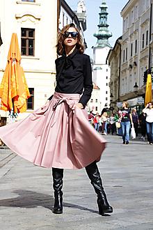 Sukne - Kruhová sukňa Be Feminine ružová - 11139980_