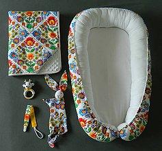 Textil - Set pre bábätko -FOLK Kvety - 11138691_