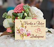 Darčeky pre svadobčanov - Svadobná magnetka - 11139210_