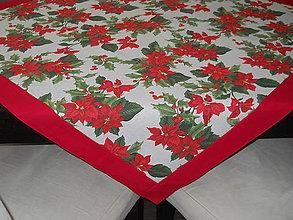 Úžitkový textil - Obrus - Vianočná ruža na režnom - 11138600_