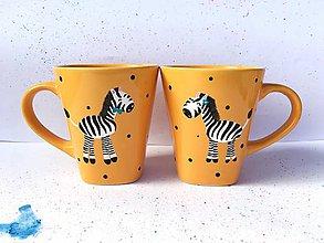 Nádoby - Zebra Žofia a Zebroš Jonatán - hrnčeky na kávu - 11139326_