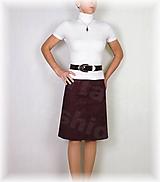 Sukne - Sukně z elastické rifloviny bordó vz.656 - 11137984_