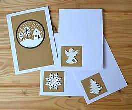 Papiernictvo - Vianočné pohľadnice-sada - 11138337_