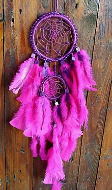 Dekorácie - Lapač snov - ružový - 11138058_