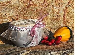 Nádoby - Keramická dóza,miska na lekvár,med,dobroty,sušené ovocie - modrý - 11138618_