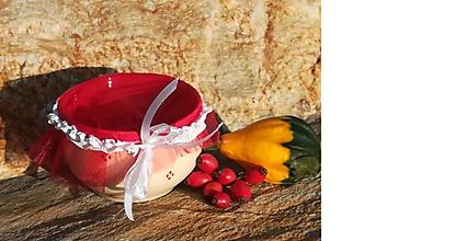 Nádoby - Keramická dóza,miska na lekvár,med,sušené ovocie,dobroty - 11138631_