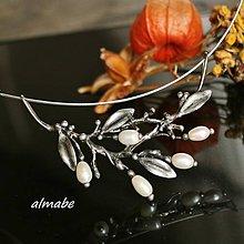 Náhrdelníky - Větvička - říční perly - 11139362_
