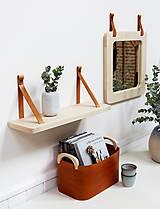 Zrkadlá - Zrkadlo s koženými úchytkami - 11139847_