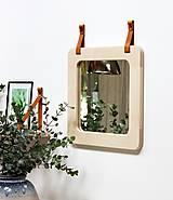 Zrkadlá - Zrkadlo s koženými úchytkami - 11139861_