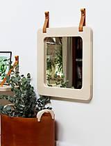 Zrkadlá - Zrkadlo s koženými úchytkami - 11139862_