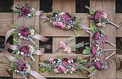 """Náramky - Kvetinový náramok pre družičky """"Rustic"""" - 11139684_"""