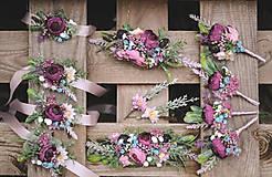 """Náramky - Kvetinový náramok pre družičky """"Rustic"""" - 11139685_"""