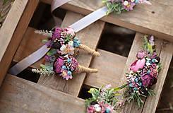 """Náramky - Kvetinový náramok pre družičky """"Rustic"""" - 11139701_"""