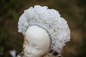 Ozdoby do vlasov - Svadobná parta Ľadová kráľovná - 11137409_