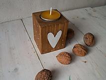 Svietidlá a sviečky - Prírodné svietniky - stredný - 11137388_