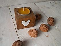 Svietidlá a sviečky - Prírodné svietniky - najmenší - 11137397_