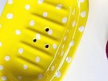 Nádoby - Žltá mydelnička - 11139524_