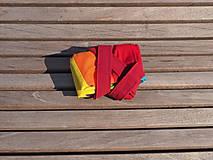 Nákupné tašky - Bavlnená taška dúhová pásikavá - 11138013_