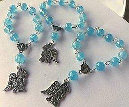 Iné šperky - Ruženec - anjel - 11139599_