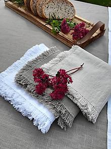 Úžitkový textil - Ľanový obrúsok - 11138070_
