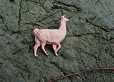 Brošne - Lama púdrová - 11139065_