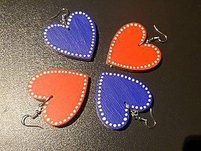 Náušnice - Srdcia v usiach (Modrá) - 11139561_