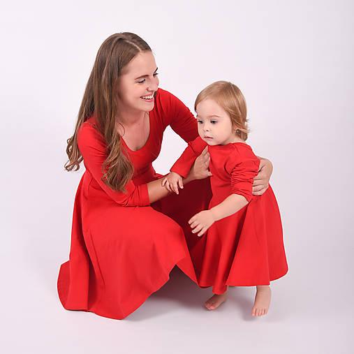 Dámske šaty - red 3/4 rukáv