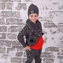 Detské oblečenie - Detská mikina - moonrise street creew grey - 11137370_