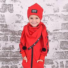 Detské oblečenie - Detská mikina - moonrise street creew red - 11137439_