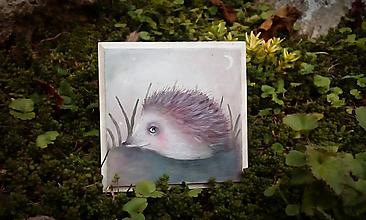Obrázky - Sníva sa ježkovi...o spánku...Séria Lesné tvory - 11138383_