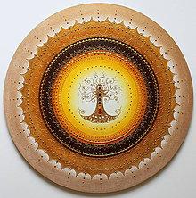 Obrazy - STROM ŽIVOTA (oranž) Ø 60 - 11139421_
